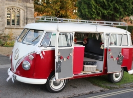 1967 VW Campervan for weddings in Marlow